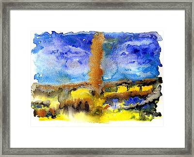 Framed Print featuring the painting Beam Of Light by Bee-Bee Deigner