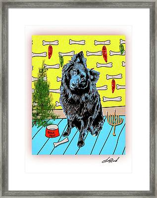 Framed Print featuring the photograph Bear Paw Holiday by Lou Novick