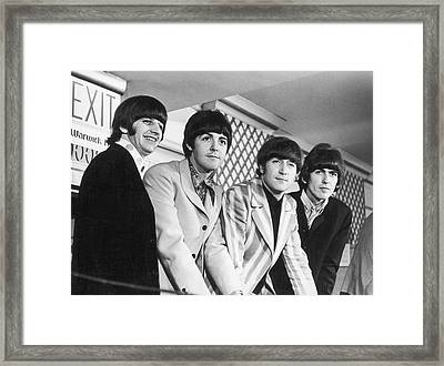 Beatles Press Conference Framed Print by Fred W. McDarrah