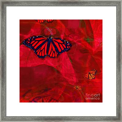 Beautiful And Fragile In Red Framed Print
