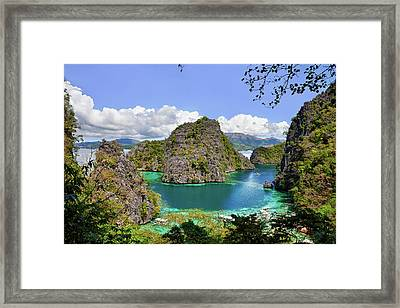 Beautiful Blue Lagoon At Kayangan Lake Framed Print by Fototrav