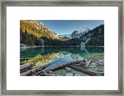 Framed Print featuring the photograph Beautiful Nature Of Joffre Lakes by Pierre Leclerc Photography