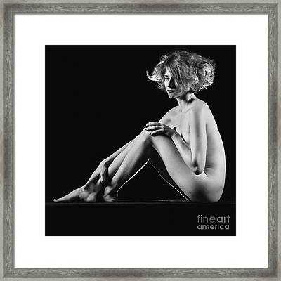 Beautiful Nude Woman Fineart Style Framed Print