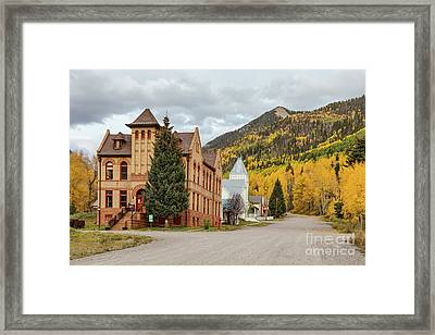 Framed Print featuring the photograph Beautiful Small Town Rico Colorado by James BO Insogna