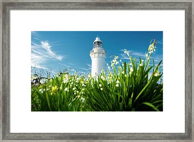 Framed Print featuring the photograph Beautiful Table Cape Lighthouse In Tasmania. by Rob D