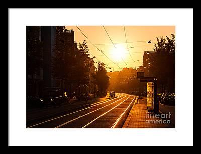 Bus Stop Framed Prints