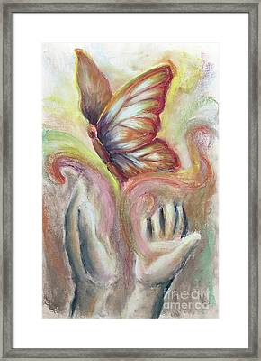 Framed Print featuring the pastel Beauty For Ashes by Lisa DuBois