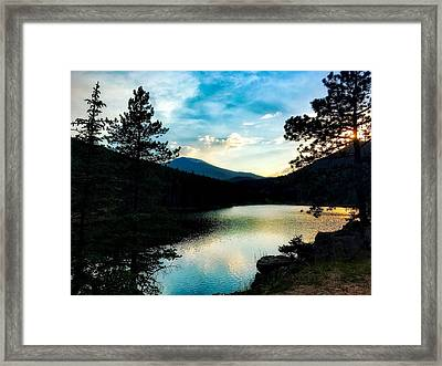 Framed Print featuring the photograph Beaver Brook Lake by Dan Miller
