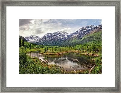 Beaver Pond, Eagle River Ak Framed Print