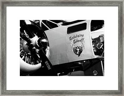 Beech At-11 Bw Framed Print