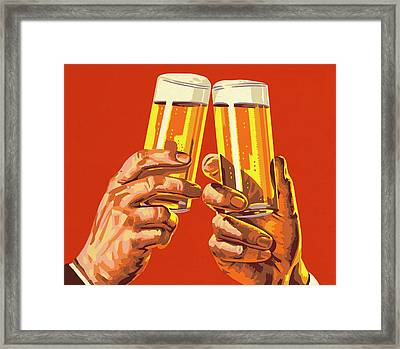 Beer Toast Framed Print