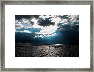 Beginning Of The End Of The Day Framed Print