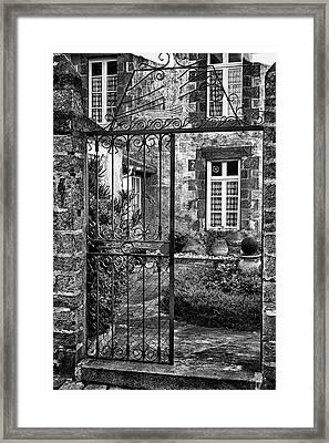 Behind The Walls Framed Print