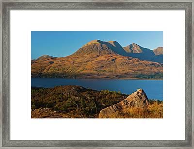Beinn Alligin And Loch Torridon Framed Print by David Ross