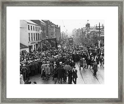 Belfast March Framed Print by Topical Press Agency