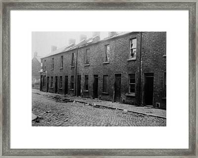 Belfast Slum Framed Print by Topical Press Agency