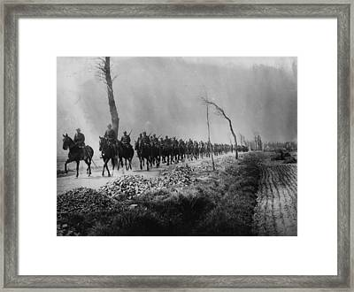 Belgian Cavalry Framed Print by Hulton Archive