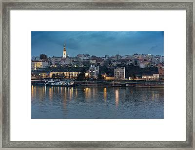Belgrade Skyline And Sava River Framed Print
