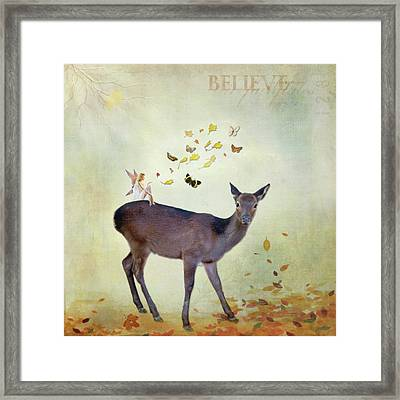 Framed Print featuring the digital art Believe by Sue Collura