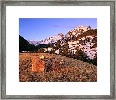 Bell Mountain Sunrise Framed Print by Leland D Howard