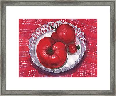 Bella Tomatoes Framed Print