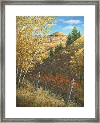 Belt Butte Autumn Framed Print