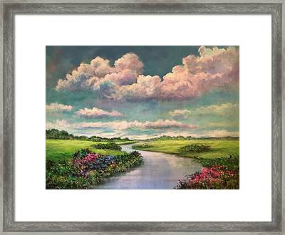 Beneath The Clouds Of Paradise Framed Print