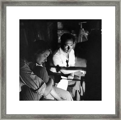 Bergman & Rossellini In Italy For Framed Print by Gordon Parks