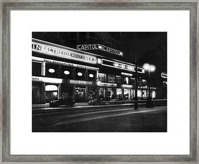 Berlin Cinema Framed Print by General Photographic Agency