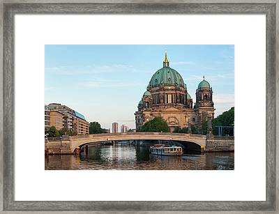 Berliner Dom And River Spree In Berlin Framed Print