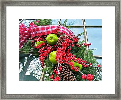 Berry Christmas Framed Print