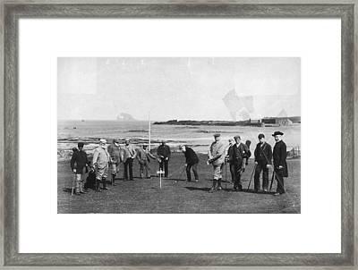 Berwick Links Framed Print by James Valentine