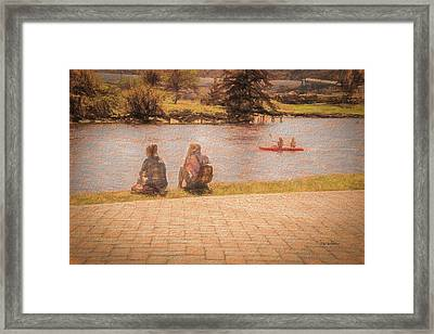 Framed Print featuring the photograph Bffs At The River by Bill Posner