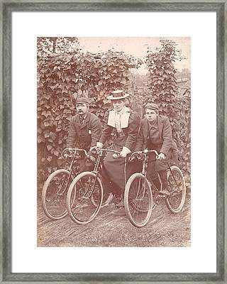 Bicycle Ride Framed Print by Hulton Archive