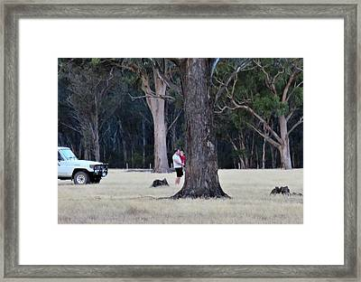 Big Gums On The Farm Framed Print