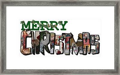 Big Letter Merry Christmas Framed Print