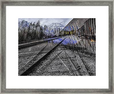 Big Steel Rail Framed Print
