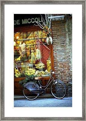 Bike In Sienna Framed Print