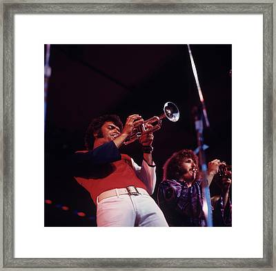 Bill Chase Performs At Newport Framed Print by David Redfern