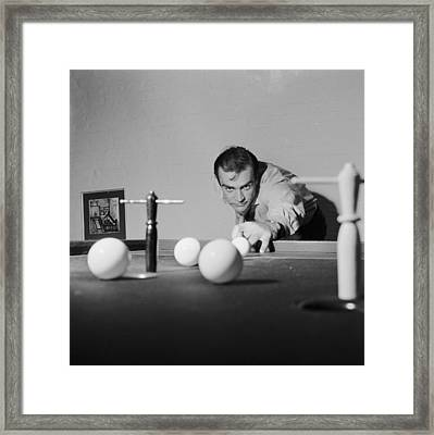 Billiard Bond Framed Print