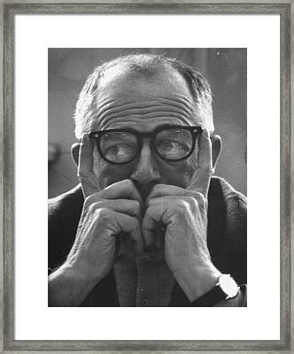 Billy Wilder Framed Print by Gjon Mili