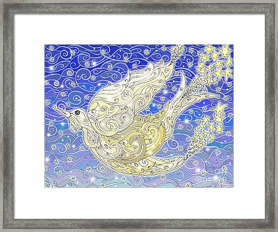 Bird Generating Stars Framed Print