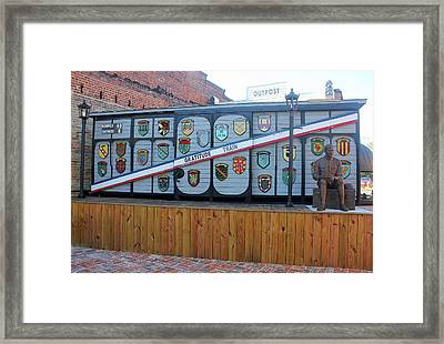 Framed Print featuring the photograph Bishopville Gratitude Train 21 by Joseph C Hinson Photography
