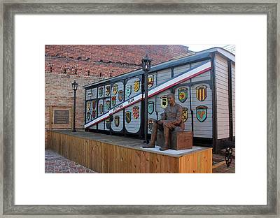Framed Print featuring the photograph Bishopville Gratitude Train 27 by Joseph C Hinson Photography