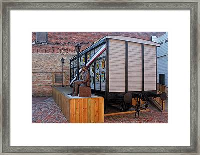 Framed Print featuring the photograph Bishopville Gratitude Train 31 by Joseph C Hinson Photography