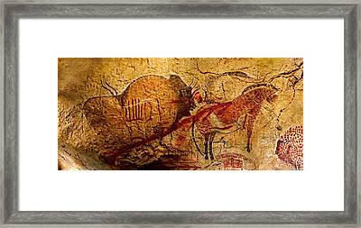 Bisons Horses And Other Animals Closer Framed Print