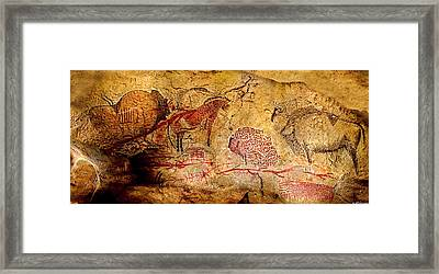 Bisons Horses And Other Animals Framed Print