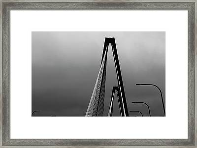 Black And White Bridge Abstract Framed Print