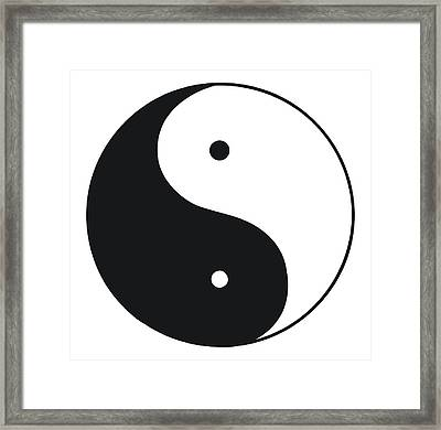 Black And White Illustration Of Tai Chi Framed Print by Dorling Kindersley