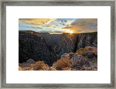 Black Canyon Sendoff Framed Print